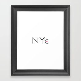 Heart NYC Framed Art Print
