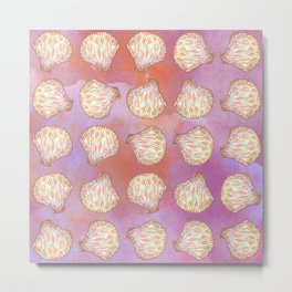 Seashells pattern Metal Print