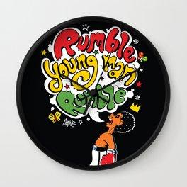 Rumble Young Man Wall Clock