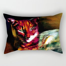 Lucifer Sam Tiger Cat Rectangular Pillow
