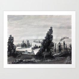 A gray morning Art Print