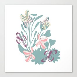Butterfly dancing Canvas Print