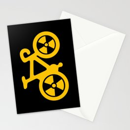 Radioactive Bicycle Stationery Cards