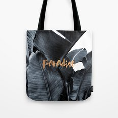 Tropical paradise - charcoal copper Tote Bag