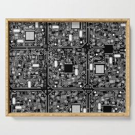 Serious Circuitry Serving Tray