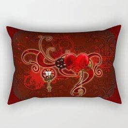 Steampunk, wunderful heart Rectangular Pillow