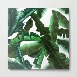 tropical banana leaves pattern 2 Metal Print