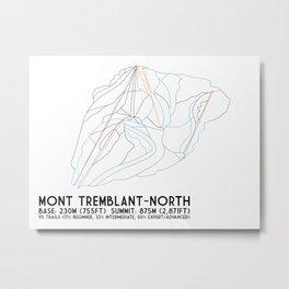 Mont Tremblant, Quebec, Canada -North Side - Minimalist Trail Art Metal Print