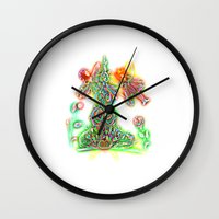 fairies Wall Clocks featuring Fairies by Foxfocus