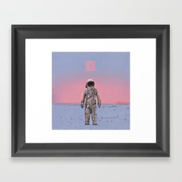 Pink Square Framed Art Print