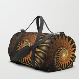 Dark Shell Fractal Duffle Bag
