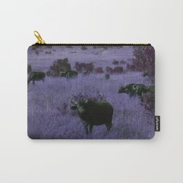 Cape Buffalo in Purple Carry-All Pouch
