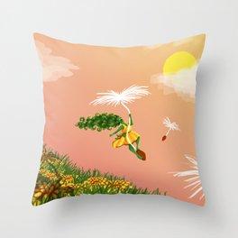 Dandelion Adventure Throw Pillow