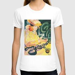 Vintage Art Nouveau Cafe Ad T-shirt