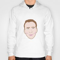 nicolas cage Hoodies featuring Nicole Cage by Ted Deacey