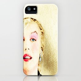 norma jeane august 2016 iPhone Case