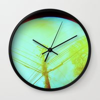 lsd Wall Clocks featuring LSD by Natalie Olmo