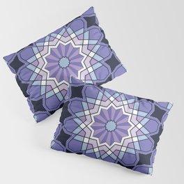 Winter Purple Stars Pillow Sham