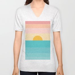 sunrise /sunset Unisex V-Neck