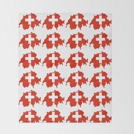 flag Switzerland 3-,Swiss,Schweizer, Suisse,Helvetic,zurich,geneva,bern,godard,heidi Throw Blanket