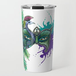 Mask of the Peacock Travel Mug
