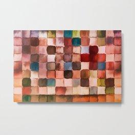 Colorful gift - Geometric watercolor Metal Print