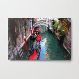 Venitian Canal Metal Print