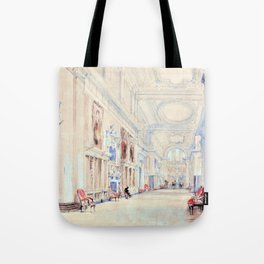 The Portrait Gallery, Hardwick Hall, Derbyshire - Digital Remastered Edition Tote Bag