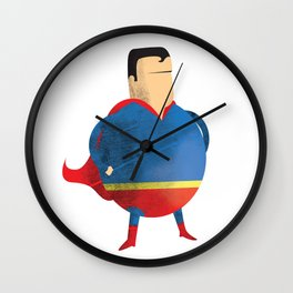 Fat Superman Wall Clock