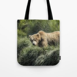 Munching Grass by the Stream Tote Bag
