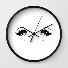 Crying Anime Eyes Wall Clock