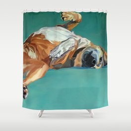 Johnny the Dog Rests Shower Curtain