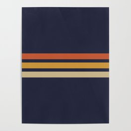 Vintage Retro Stripes Poster