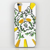 westie iPhone & iPod Skins featuring Westie, fun, crazy, whimsical by ClarityArtDesign