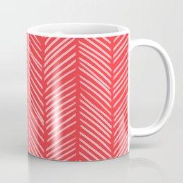 Tomato Herringbone Coffee Mug