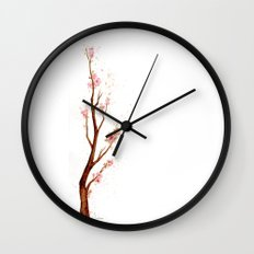 Cherry Tree Branch Wall Clock