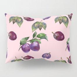 Watercolor plums Pillow Sham