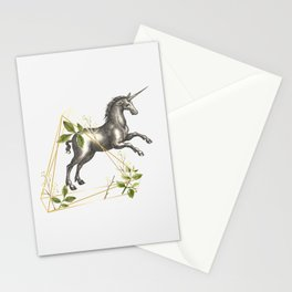 UNICORN OVERCOMING AN OBSTACLE Stationery Cards