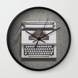 Portable Typewriter Wall Clock
