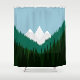 Pacific Northwest Mountains Shower Curtain