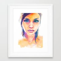 gravity Framed Art Prints featuring Gravity by Alice X. Zhang
