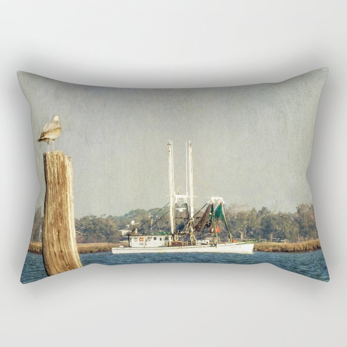 Shrimp Boat Rectangular Pillow