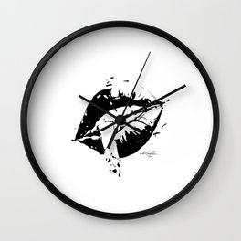 Sexy Lips 19 by Kathy Morton Stanion Wall Clock