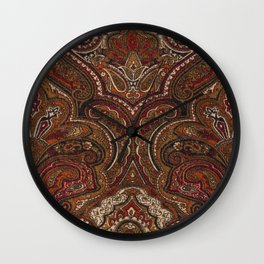 Vintage Paisley Like Pattern Wall Clock