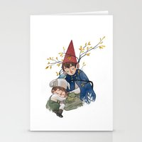 over the garden wall Stationery Cards featuring Over the garden wall by Rozenn