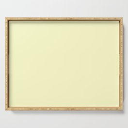 Solid Pale Yellow Cream Color Serving Tray