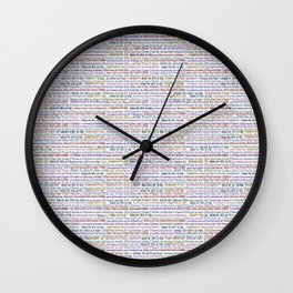 Surrealpete Web Footprint Wall Clock