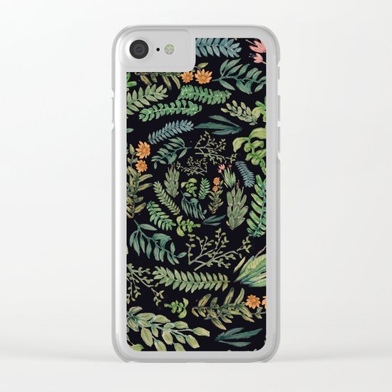 circular garden at nigth Clear iPhone Case
