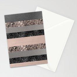 Blush Glitter Glam Stripes #3 #shiny #decor #art #society6 Stationery Cards
