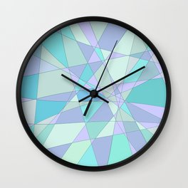 Shattered Purple & Green Wall Clock